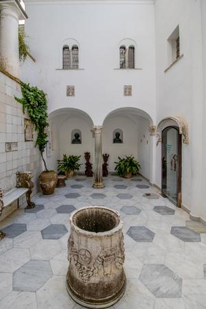 La Villa San Michele in primavera, ad Anacapri sull'isola di Capri, Italia Editoriali