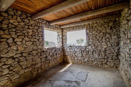 Fortress Pino on the island Capri, Italy Editorial