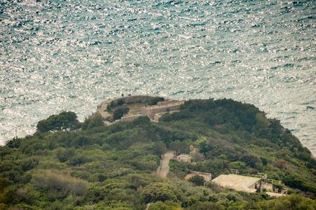 Fortress Pino on the island Capri, Italy Imagens