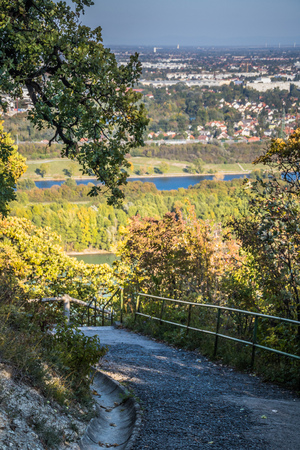 Kahlenberg village in autumn in Vienna, Austria