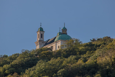 Leopoldsberg in autumn in Vienna, Austria