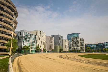 The modern district Viertel Zwei in Vienna, in spring, Austria