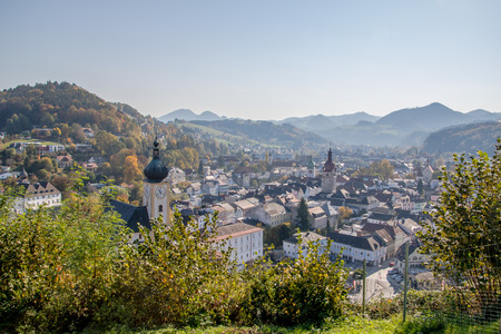 The old town of Waidhofen on the Ybbs in autumn, Mostviertel, Lower Austria, Austria