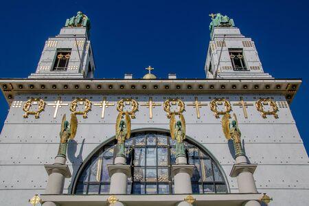 Otto Wagner church (Kirche am Steinhof) in Vienna, Austria Imagens - 132053765