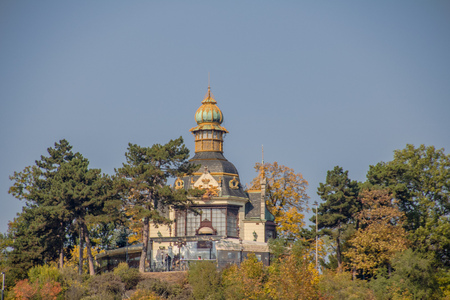 The Hanau Pavilion at Letn? Park in autumn, Prague, Czech Republic Imagens - 126632842