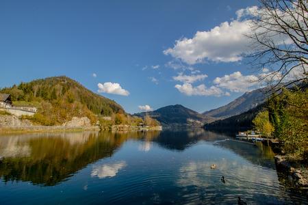 Lunz am See in autumn, Mostviertel, Lower Austria, Austria, Stockfoto