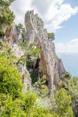 The natural arch Arco Naturale in Capri, Italy