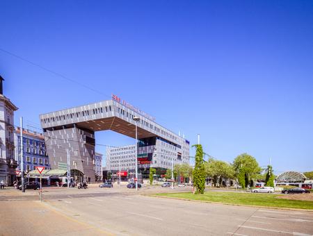 The Vienna Westbahnhof? West Station - in spring, Austria Editorial