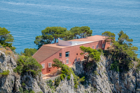 The famous Villa Malaparte on the island of Capri, Italy Redakční