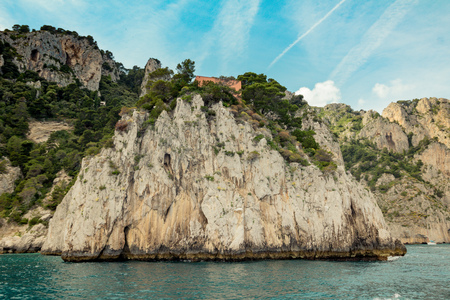 The famous Villa Malaparte on the island of Capri, Italy Reklamní fotografie