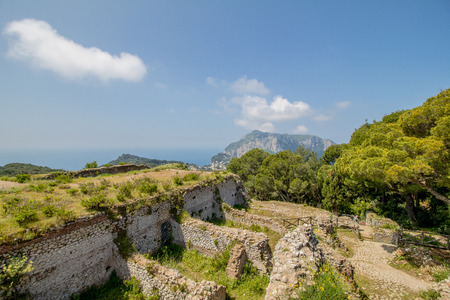 The famous Villa Jovis on the island of Capri, Italy