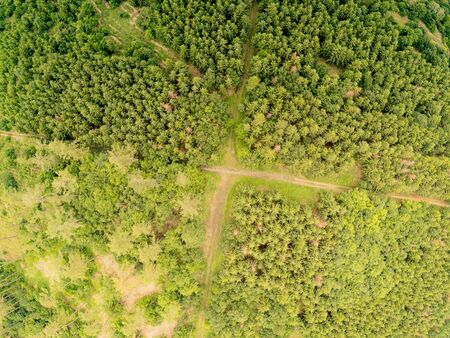 Nature park landscape in Brno from above, Czech Republic Imagens - 128423842