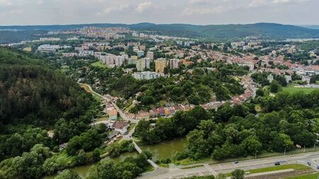 Brno-Bystrc the green district from above, Czech Republic