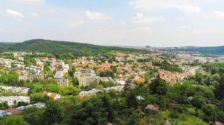 Brno-Komin the northwestern district of Brno from above, Czech Republic
