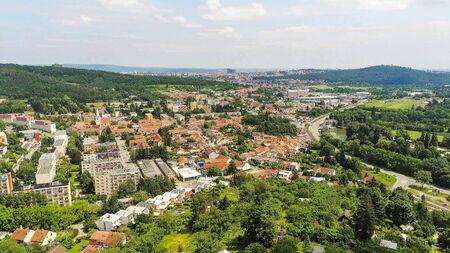 Brno-Komin the northwestern district of Brno from above, Czech Republic Stock Photo