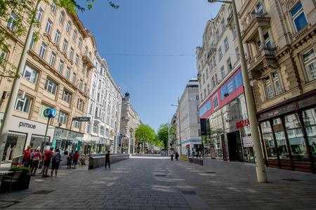 Extended city center Mariahilf in Vienna, Austria, Autumn