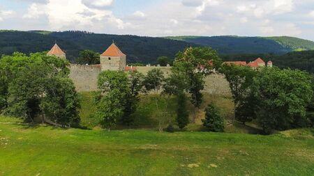 The castle Veveri in Brno Bystrc from above, Czech Republic Standard-Bild - 138746260