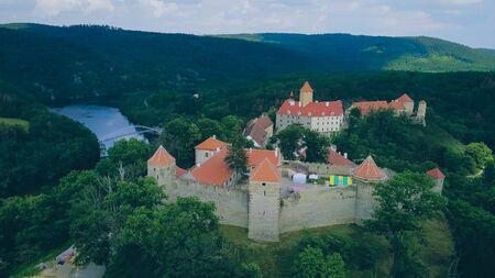 The castle Veveri in Brno Bystrc from above, Czech Republic Standard-Bild - 138746262