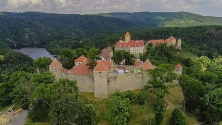 The castle Veveri in Brno Bystrc from above, Czech Republic Standard-Bild - 138746263