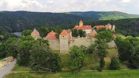 The castle Veveri in Brno Bystrc from above, Czech Republic Standard-Bild - 138746264