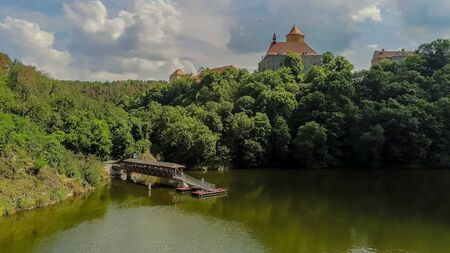 The castle Veveri in Brno Bystrc from above, Czech Republic Standard-Bild - 138746265