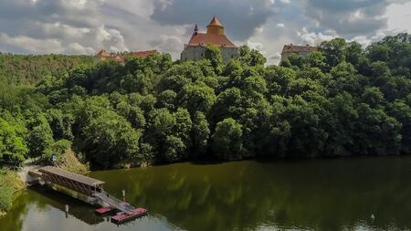 The castle Veveri in Brno Bystrc from above, Czech Republic Standard-Bild - 138746268