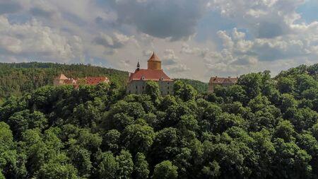 The castle Veveri in Brno Bystrc from above, Czech Republic Standard-Bild - 138746269
