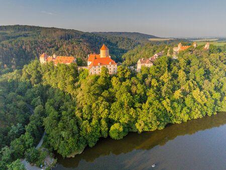 The castle Veveri in Brno Bystrc from above, Czech Republic Standard-Bild - 138746270