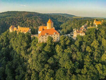The castle Veveri in Brno Bystrc from above, Czech Republic Standard-Bild - 138746271