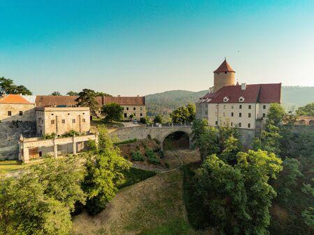 The castle Veveri in Brno Bystrc from above, Czech Republic Standard-Bild - 138746275