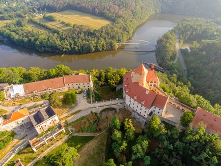 The castle Veveri in Brno Bystrc from above, Czech Republic Standard-Bild - 138746277