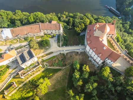 The castle Veveri in Brno Bystrc from above, Czech Republic Standard-Bild - 138746278