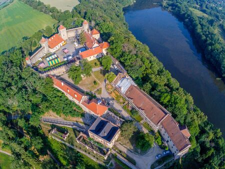 The castle Veveri in Brno Bystrc from above, Czech Republic Standard-Bild - 138746281
