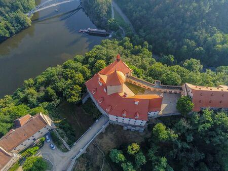 The castle Veveri in Brno Bystrc from above, Czech Republic Standard-Bild - 138746282