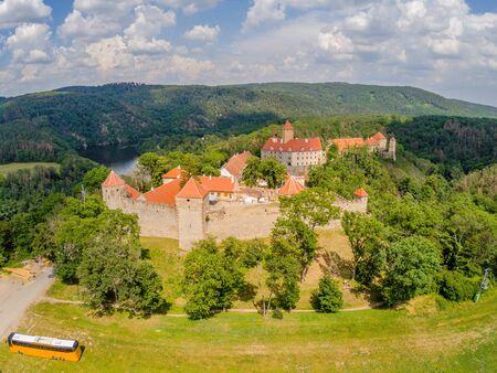 The castle Veveri in Brno Bystrc from above, Czech Republic Standard-Bild - 138746286