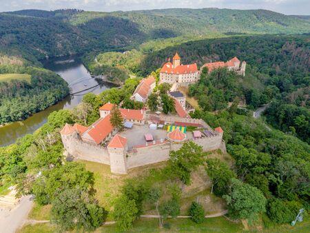 The castle Veveri in Brno Bystrc from above, Czech Republic Standard-Bild - 138746287