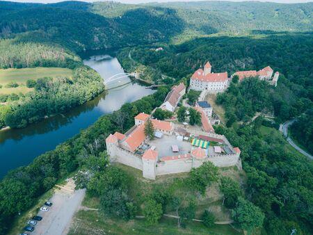 The castle Veveri in Brno Bystrc from above, Czech Republic Standard-Bild - 138746288