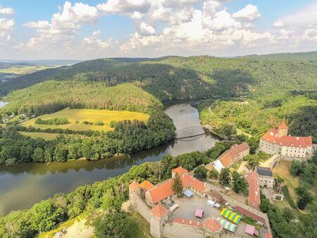 The castle Veveri in Brno Bystrc from above, Czech Republic Standard-Bild - 138746291