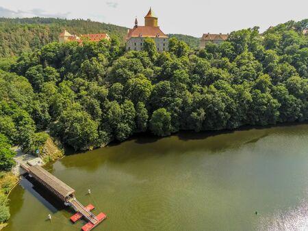 The castle Veveri in Brno Bystrc from above, Czech Republic Standard-Bild - 138746296