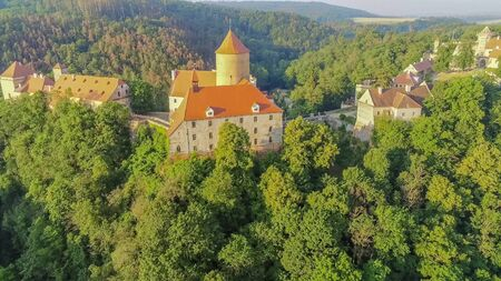 The castle Veveri in Brno Bystrc from above, Czech Republic Standard-Bild - 138746299