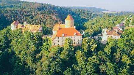 The castle Veveri in Brno Bystrc from above, Czech Republic Standard-Bild - 138746300