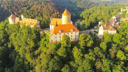 The castle Veveri in Brno Bystrc from above, Czech Republic Standard-Bild - 138746301