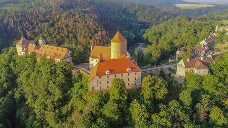 The castle Veveri in Brno Bystrc from above, Czech Republic Standard-Bild - 138746302