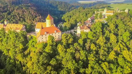 The castle Veveri in Brno Bystrc from above, Czech Republic Standard-Bild - 138746303