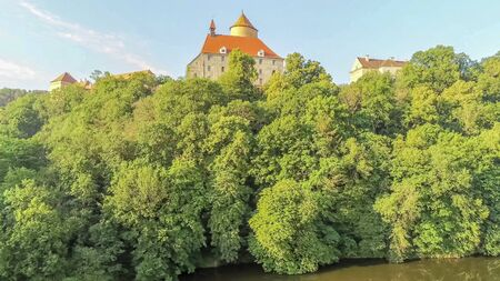 The castle Veveri in Brno Bystrc from above, Czech Republic Standard-Bild - 138746241