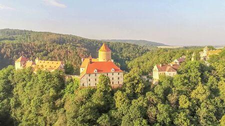 The castle Veveri in Brno Bystrc from above, Czech Republic Standard-Bild - 138746244