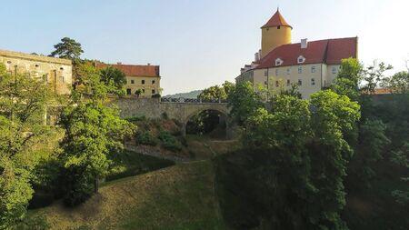 The castle Veveri in Brno Bystrc from above, Czech Republic Standard-Bild - 138746245