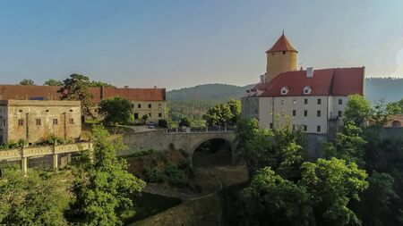 The castle Veveri in Brno Bystrc from above, Czech Republic Standard-Bild - 138746246