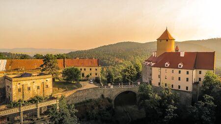 The castle Veveri in Brno Bystrc from above, Czech Republic Standard-Bild - 138746247