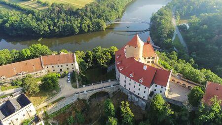 The castle Veveri in Brno Bystrc from above, Czech Republic Standard-Bild - 138746251